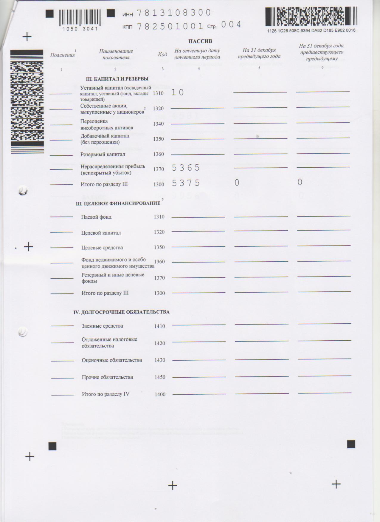 Бухгалтерская отчетность 2012 стр 4