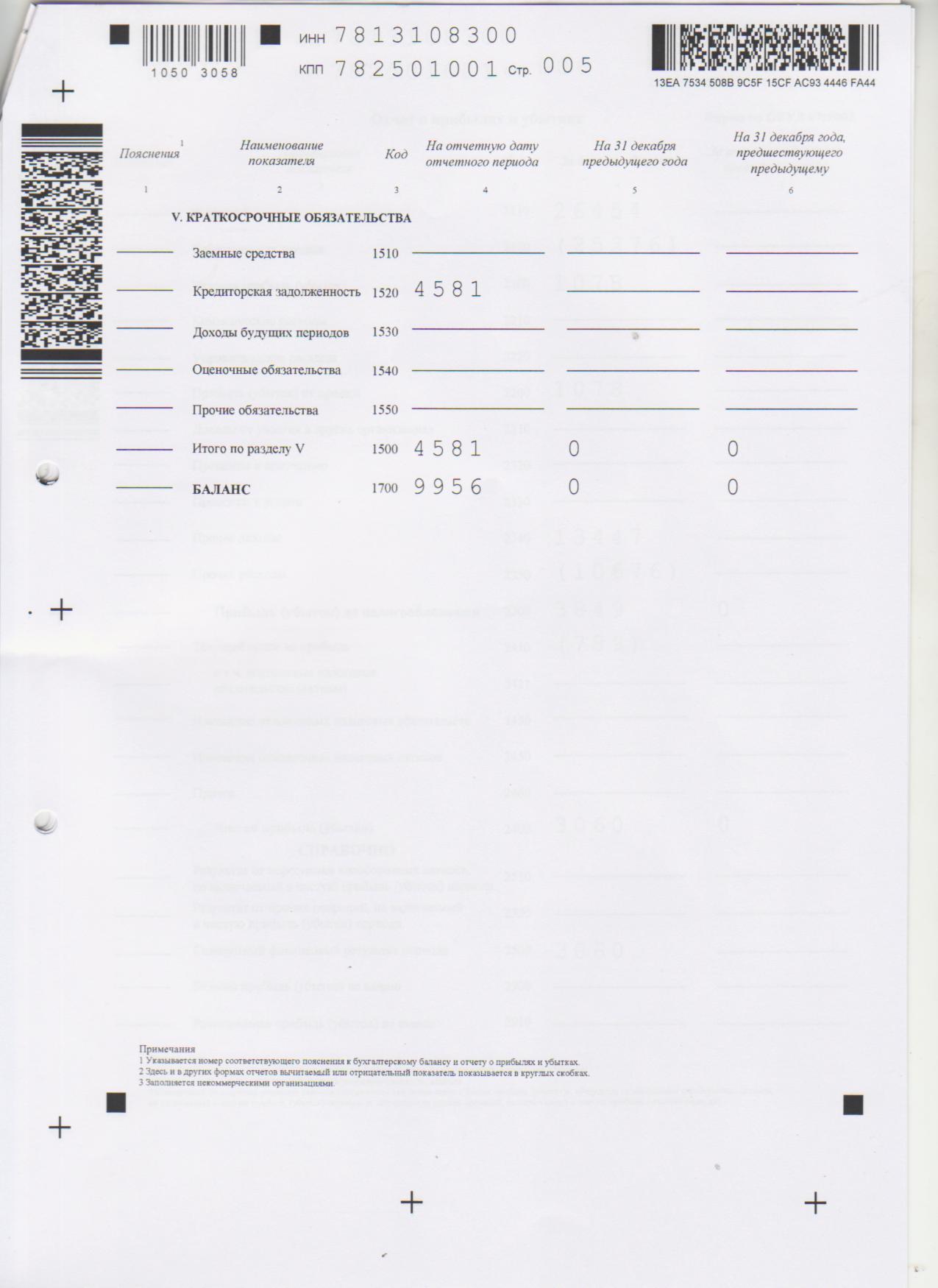 Бухгалтерская отчетность 2012 стр 5
